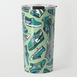 Sneaker Lover in Green Travel Mug