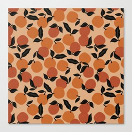 Seamless Citrus Pattern / Oranges Canvas Print