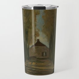 Avenue of Poplars in Autumn Travel Mug