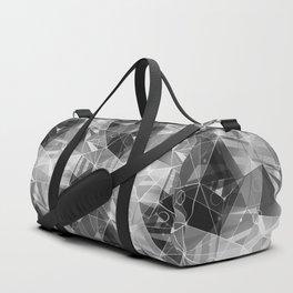 Black and white polygonal pattern. Duffle Bag