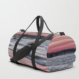 Pink Sunset on the beach Duffle Bag