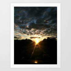 morning drive Art Print