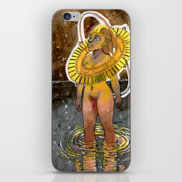 Golden Universe lady iPhone Skin