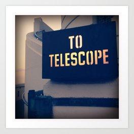To The Telescope Art Print
