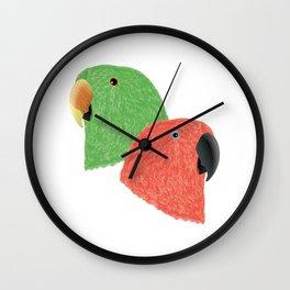 Eclectus Parrots Wall Clock