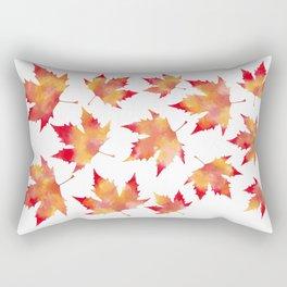 Maple leaves white Rectangular Pillow