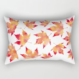 Maple leaves white Rectangular Pillow