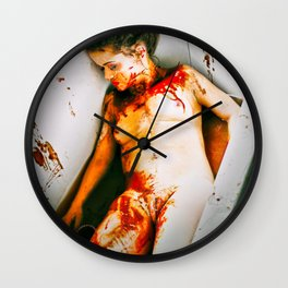 The Murder Scene by MB Wall Clock