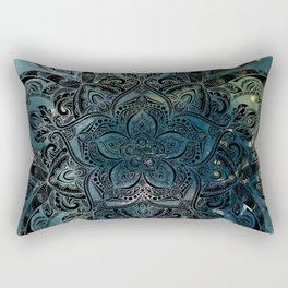 Flower mandala -night Rectangular Pillow