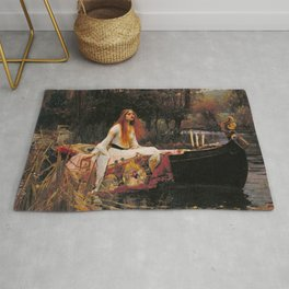 John William Waterhouse The Lady Of Shalott Rug