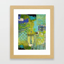 Being Green Abstract Art Collage Framed Art Print
