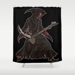 Grim Reaper Guitarist   Heavy Metal Festival Music Shower Curtain