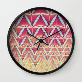 From pink to yellow pattern Wall Clock