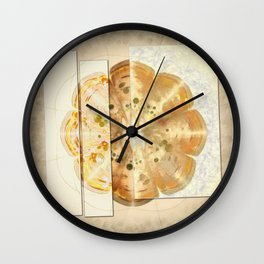 Upshifting Unconcealed Flowers  ID:16165-105815-13851 Wall Clock