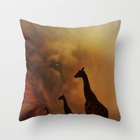 wildlife Throw Pillows featuring Wildlife by Digital-Art
