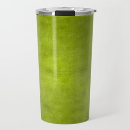 """Summer Fresh Green Garden Burlap Texture"" Travel Mug"
