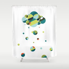 Luck has its storms Shower Curtain