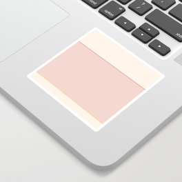 Subtle Spring Color Block Sticker