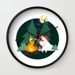 Forest of the Unicorn Wall Clock
