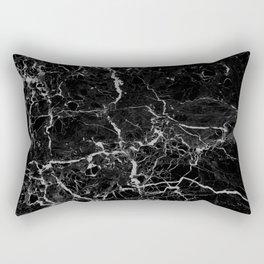 Marble Black Grunge texture Rectangular Pillow
