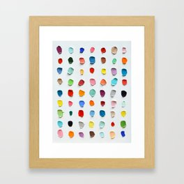 Infinite Polka Daubs 2 Framed Art Print