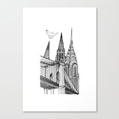 NYC Silhouettes Canvas Print