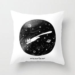Meowteor Throw Pillow