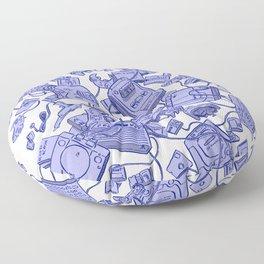 Retro Gamer - Blue Floor Pillow