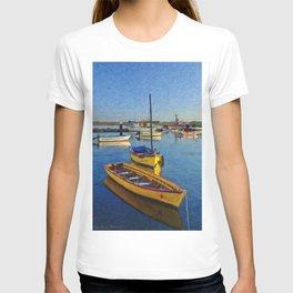 Yellow fishing boat, Santa Luzia, Portugal T-shirt
