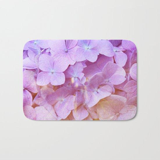 Multicolor beautiful Hydrangea petals - Flowers - Buds - Blossoms Bath Mat