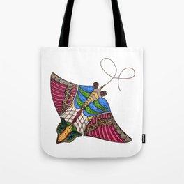 Colorful Stingray Tote Bag