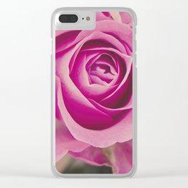 Close up of a rose Clear iPhone Case