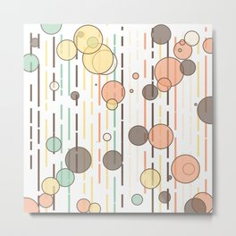 Circles and lines Metal Print