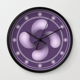 LAUBURU IN PURPLE (abstract geometric symbol) Wall Clock