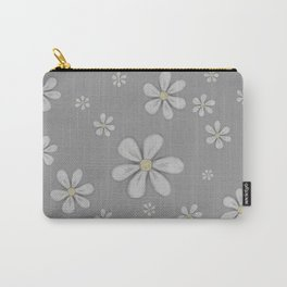 Grey Daisies Sketch Carry-All Pouch