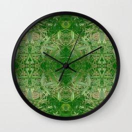Leafy Dreams Mandala Wall Clock