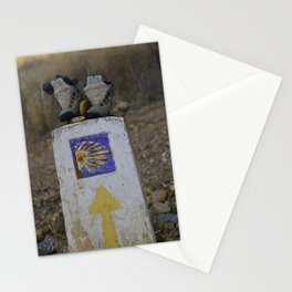 Camino Route Marker and Old Boots Stationery Cards