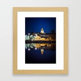 Night town Framed Art Print