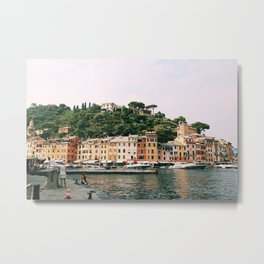 Positano on the Italian Coast Metal Print