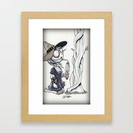 Th Garden Witch Framed Art Print