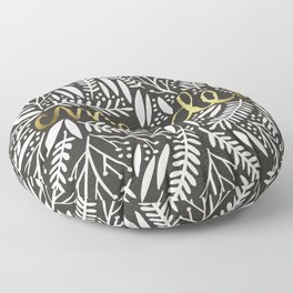 Pardon My French – Gold on Black Floor Pillow