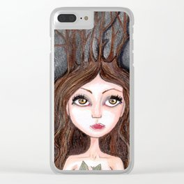Forest Druid Clear iPhone Case