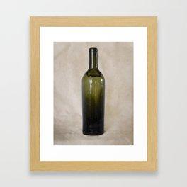 Vintage Glass Bottle Framed Art Print
