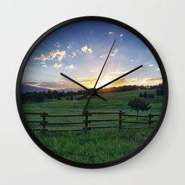 Foothills Sunset Wall Clock