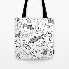 A Sea of Sharks Tote Bag
