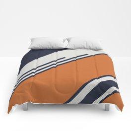 Retro Stripes in Blue Orange Comforters