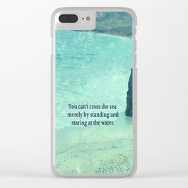 Sea Ocean Goal Choices quote Clear iPhone Case
