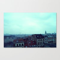 brussels Canvas Prints featuring Brussels by Liselotte Verhagen