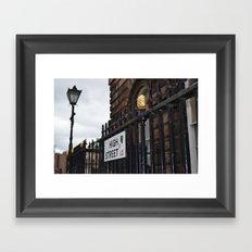 high street Framed Art Print