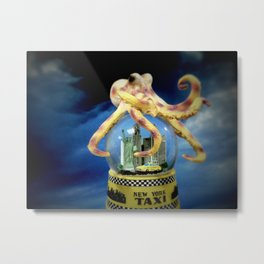 Octopus Attacks New York! Metal Print